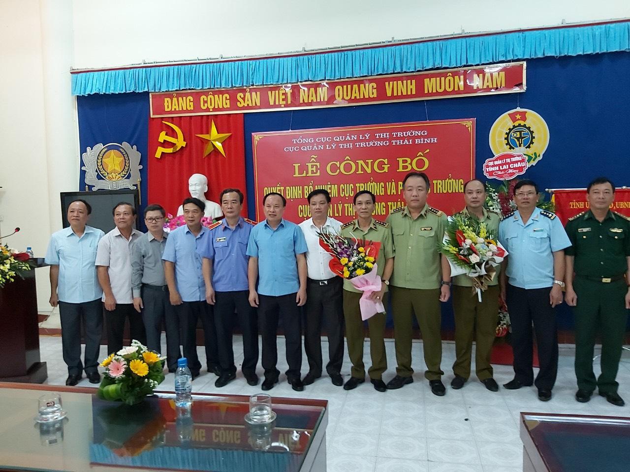 Cục QLTT Thái Bình: Công bố quyết định bổ nhiệm Cục trưởng và Phó Cục trưởng Cục Quản lý thị trường tỉnh.