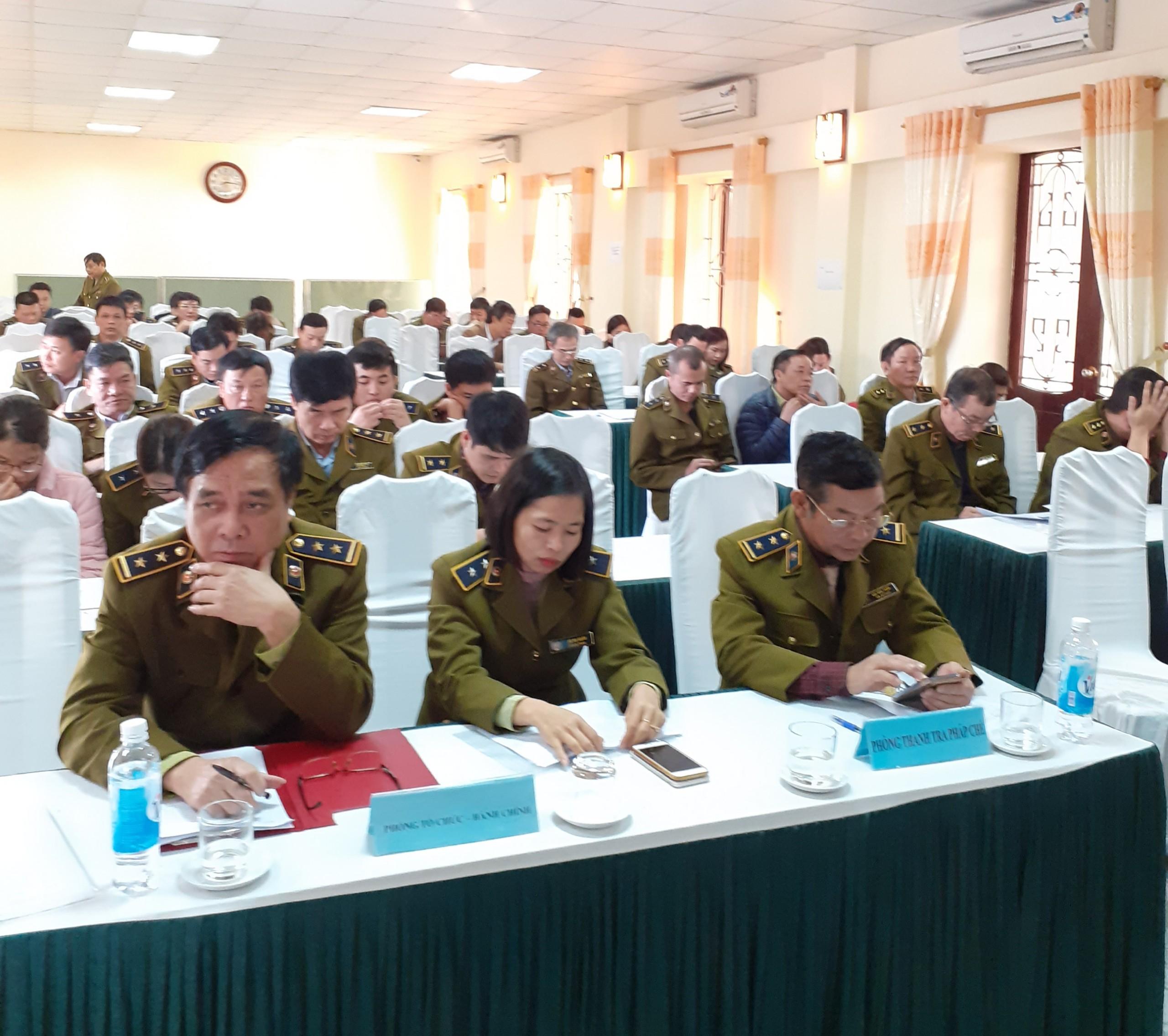 Cục Quản lý thị trường Thái Bình tổ chức Hội nghị tổng kết công tác năm 2019,  triển khai nhiệm vụ năm 2020 và Hội nghị Cán bộ, công chức năm 2020