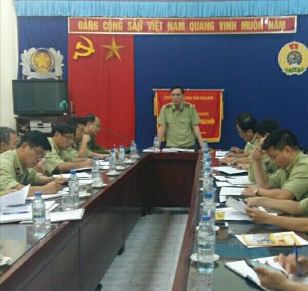 Cục QLTT Thái Bình tổ chức Hội nghị giao ban, đánh giá kết quả thực hiện nhiệm vụ 6 tháng đầu năm 2020, triển khai nhiệm vụ 6 tháng cuối năm 2020