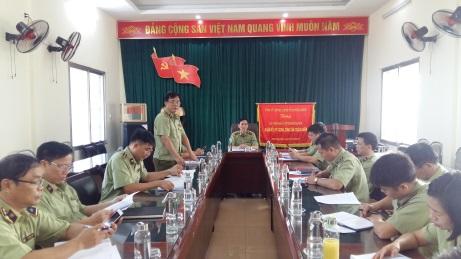 Cục Quản lý thị trường Thái Bình tổ chức Hội nghị giao ban tháng 8, triển khai nhiệm vụ tháng 9 năm 2020.