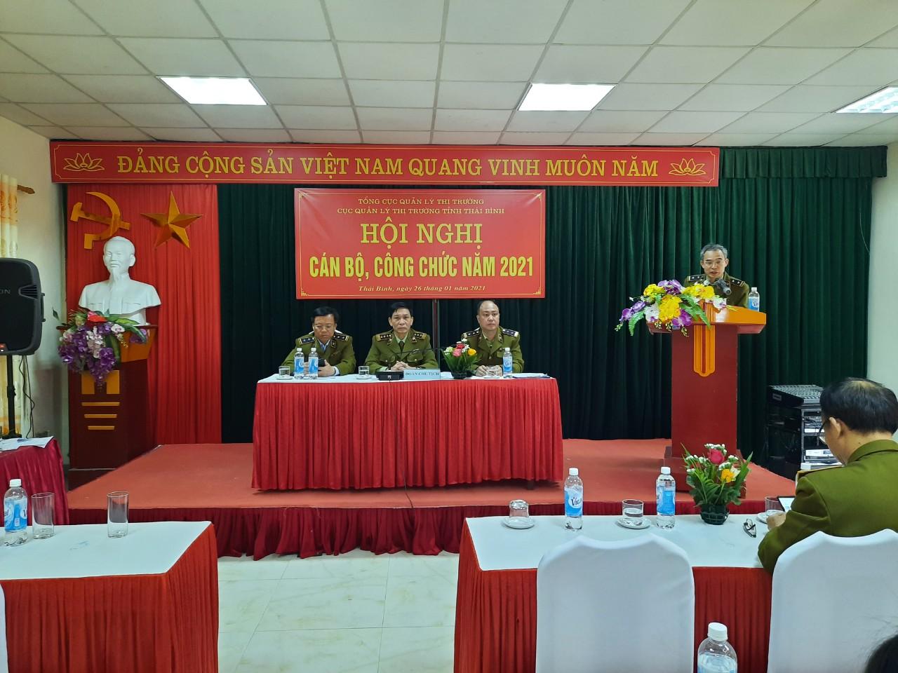 Cục QLTT Thái Bình: Tổ chức Hội nghị cán bộ công chức năm 2021